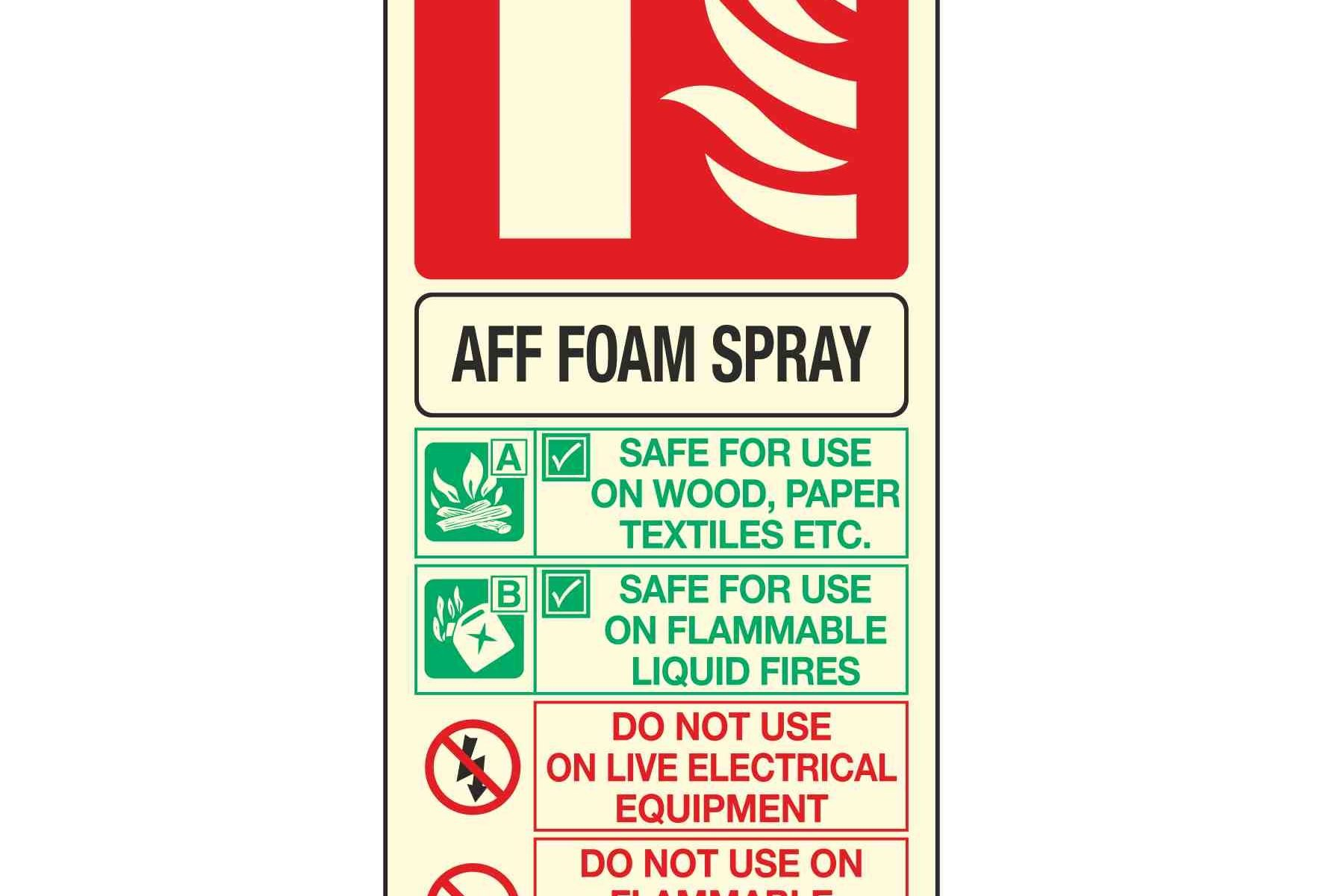 AFF FOAM SPRAY FIRE EXTINGUISHER PL