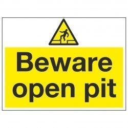 Beware open pit