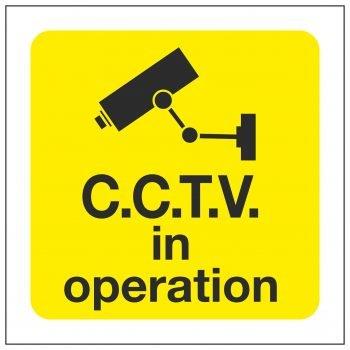 C.C.T.V. in operation