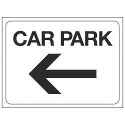 CAR PARK (Arrow pointing left)