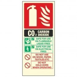 C02 CARBON DIOXIDE FIRE EXTINGUISHER PL