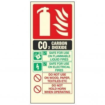 C02 CARBON DIOXIDE FIRE EXTINGUISHER PL