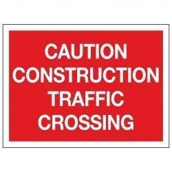 CAUTION CONSTRUCTION TRAFFIC CROSSING