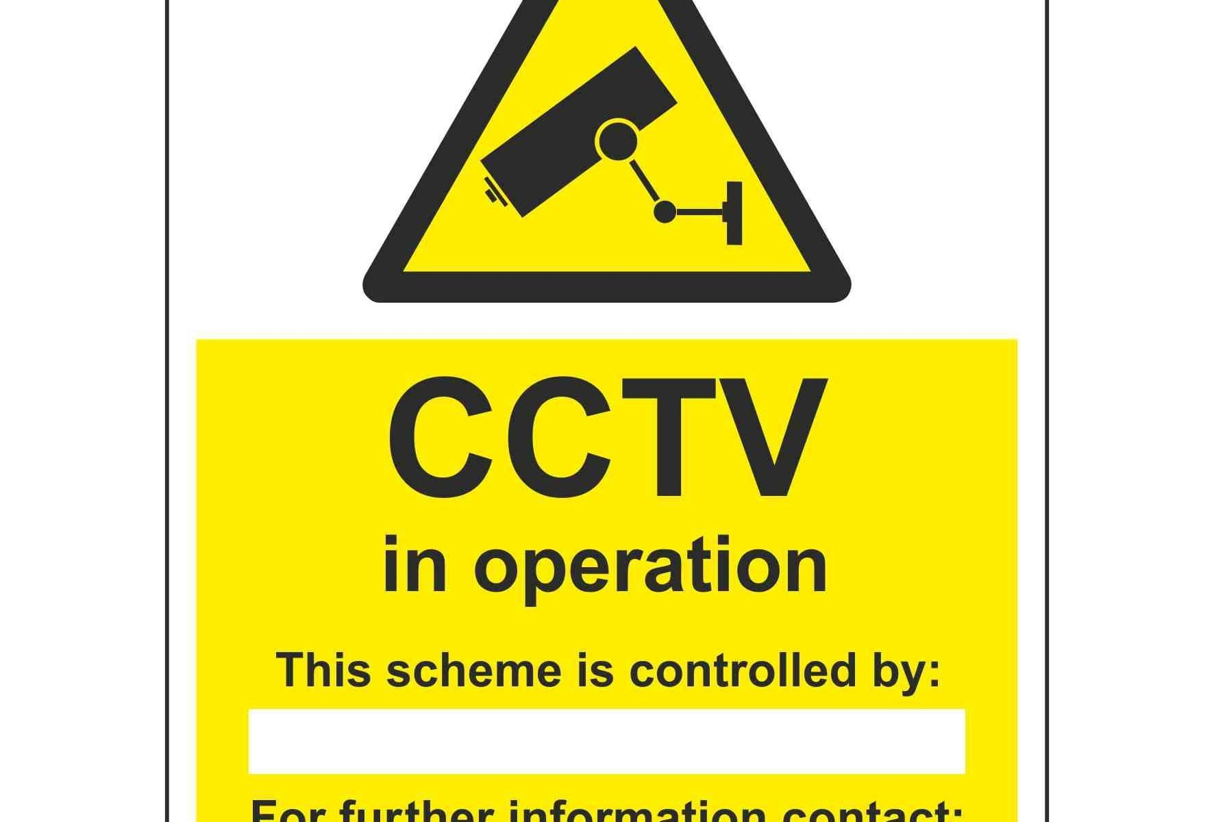 CCTV in operation This scheme is controlled by For further information contact
