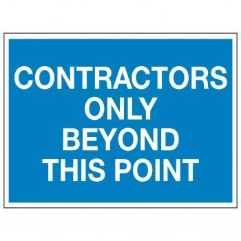 CONTRACTORS ONLY BEYOND THIS POINT