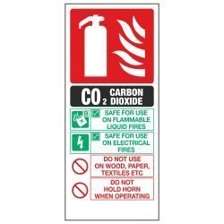 C02 CARBON DIOXIDE Fire Extinguisher