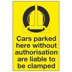 Cars parked here without authorisation are liable to be clamped