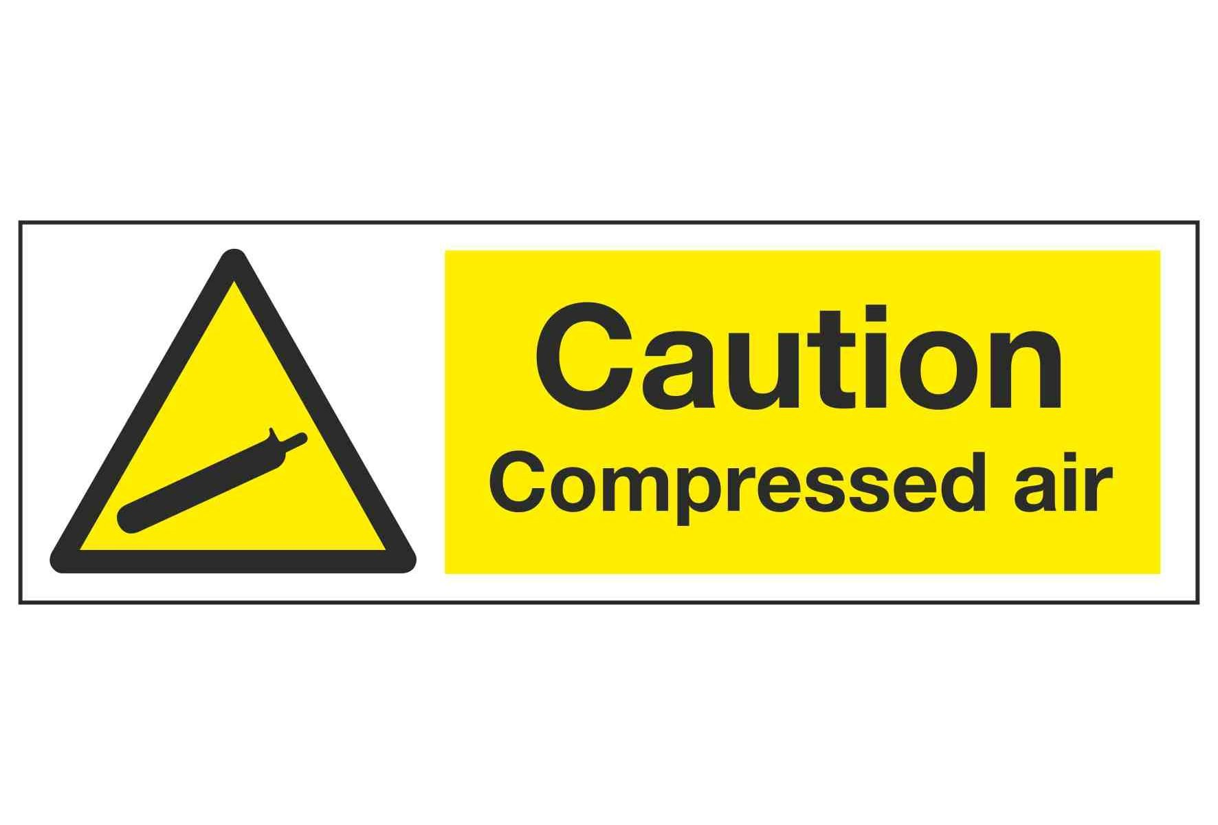 Caution Compressed air