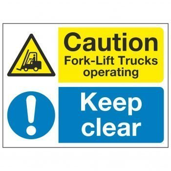 Caution Fork-Lift Trucks operating Keep clear