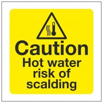 Caution Hot water risk of scalding