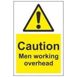Caution Men working overhead