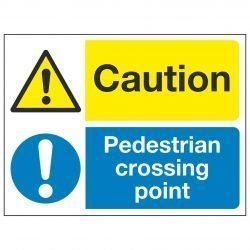Caution / Pedestrian crossing point