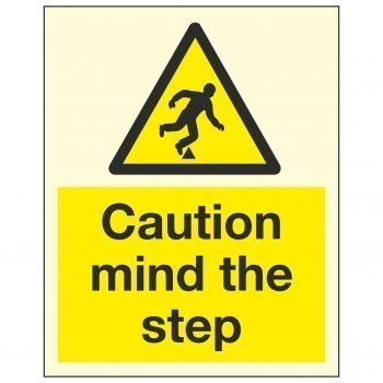 Caution mind the step PL