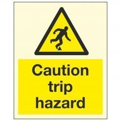 Caution trip hazard PL