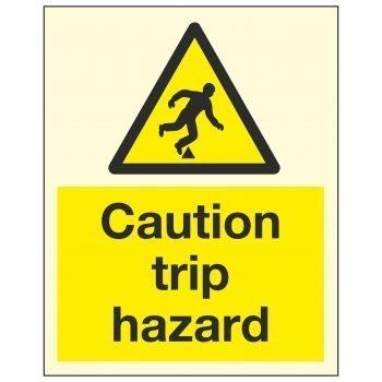 Caution trip hazard PL