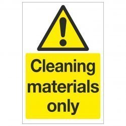 Cleaning materials only