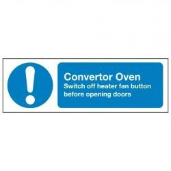 Convertor Oven Switch off heater fan button before opening doors