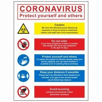 Coronavirus protect yourself and others multi