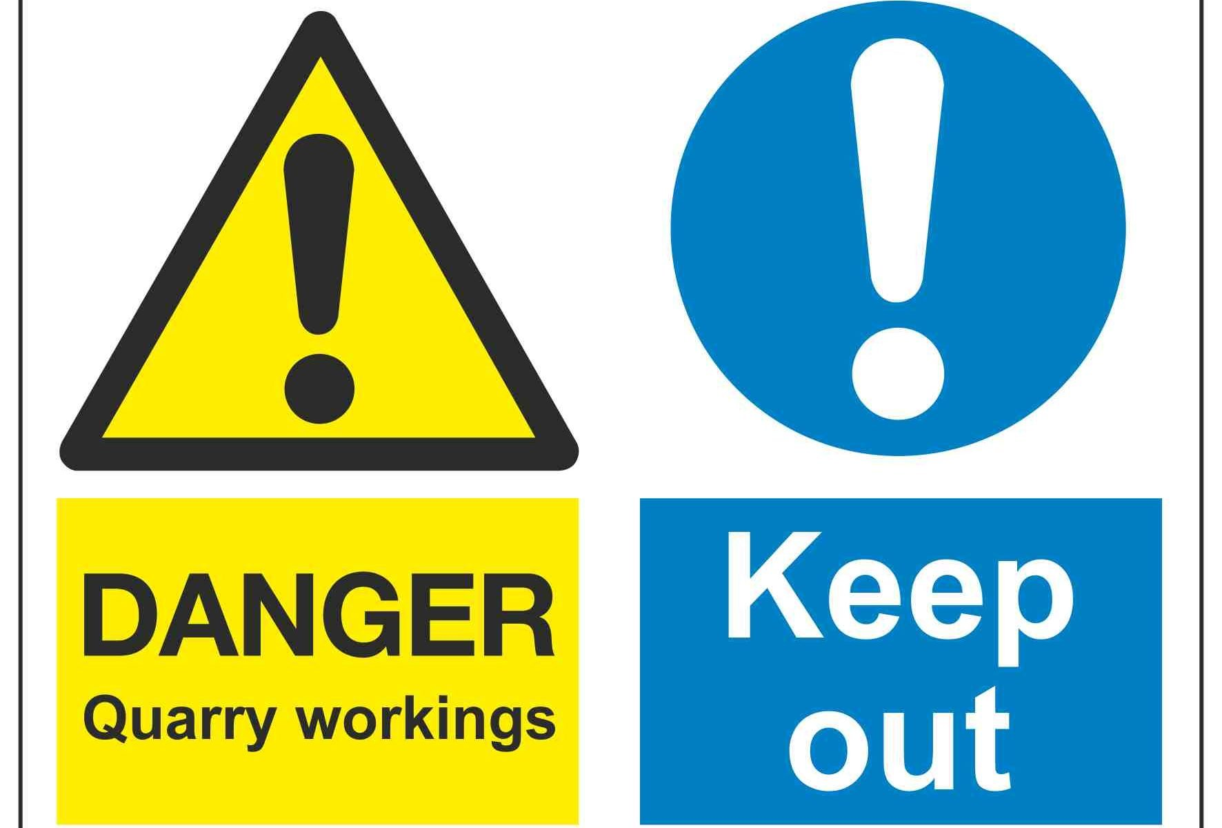 Danger Quarry workings / Keep Out