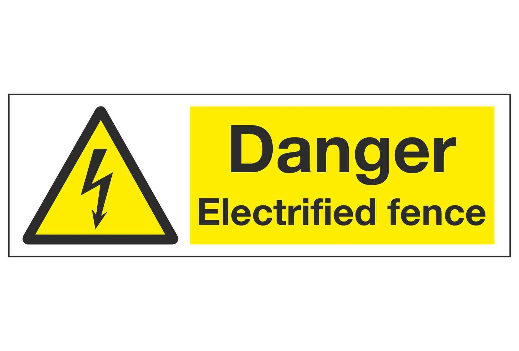 Danger Electrified fence
