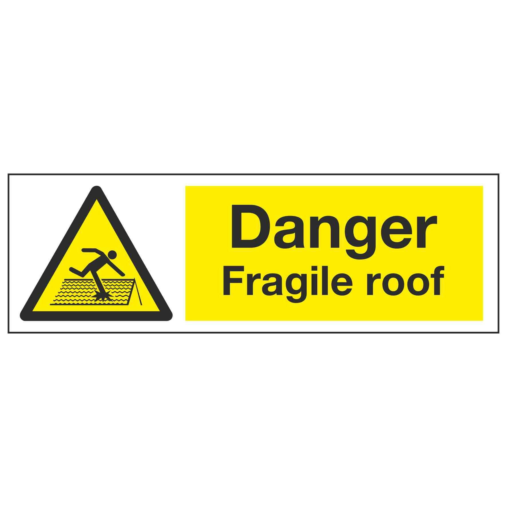 Danger Fragile Roof Linden Signs Amp Print