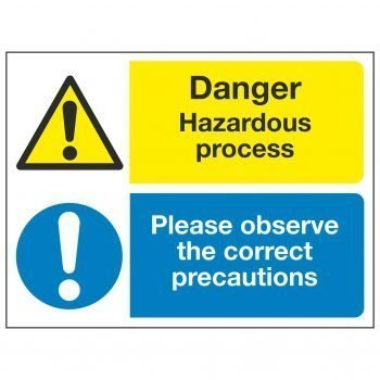 Danger Hazardous process Please observe the correct precautions