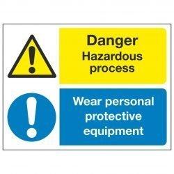 Danger Hazardous process Wear personal protective equipment