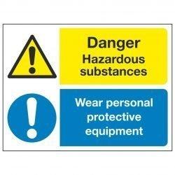 Danger Hazardous substances Wear personal protective equipment