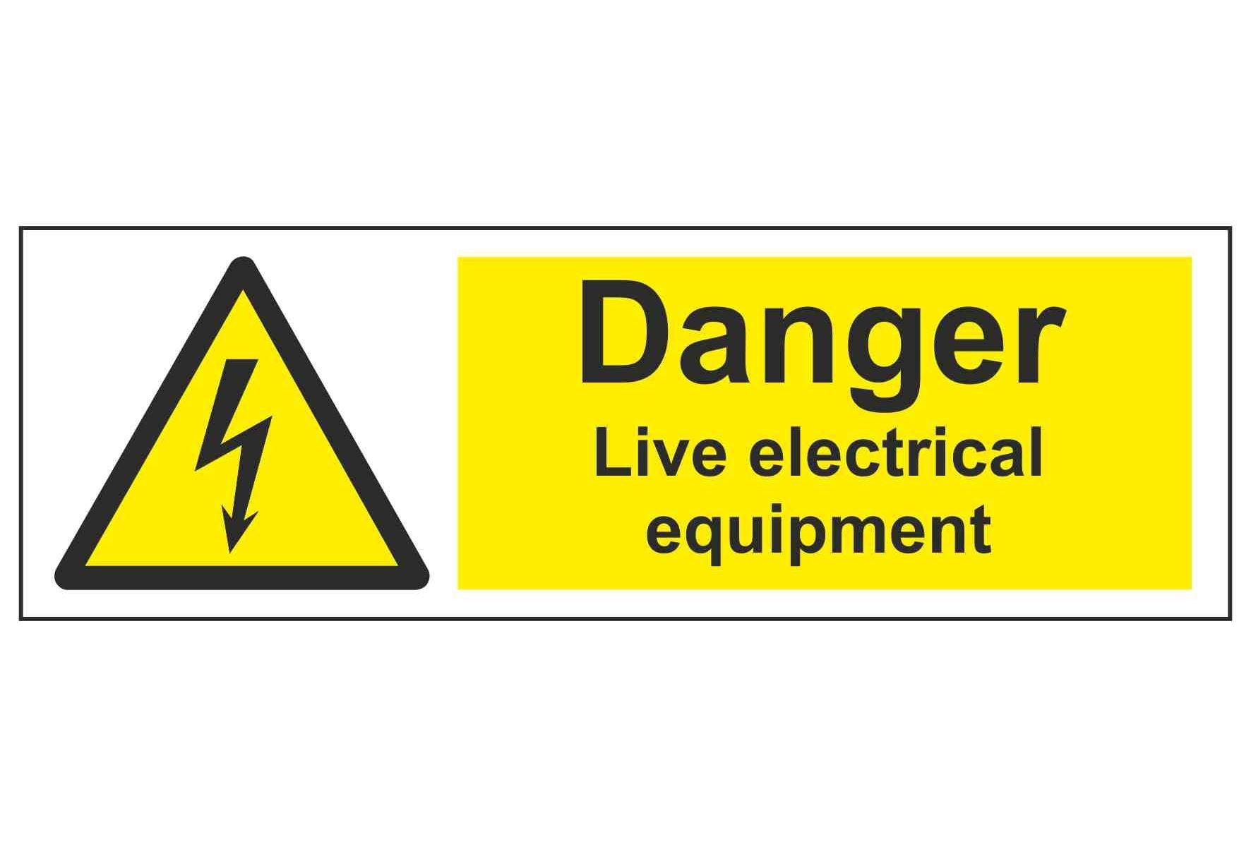 Danger Live electrical equipment