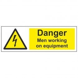 Danger Men working on equipment