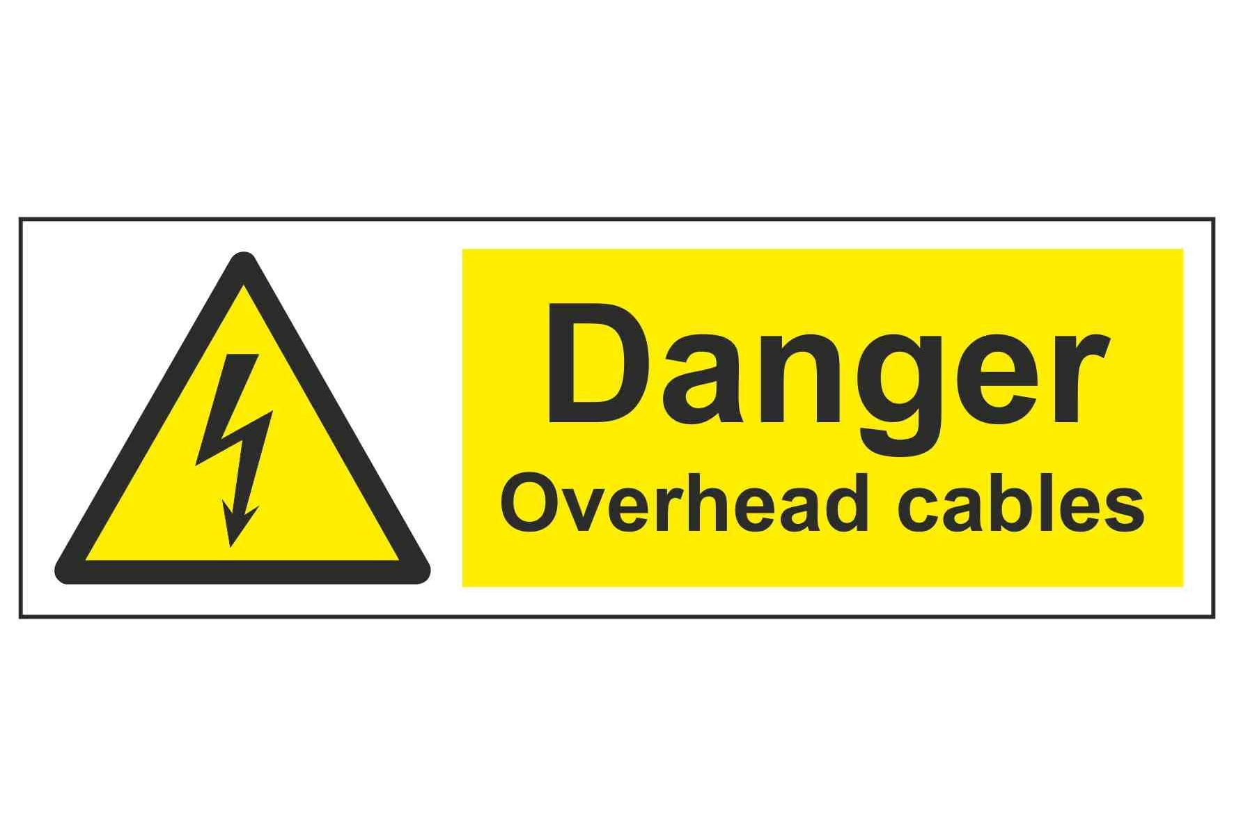 Danger Overhead cables
