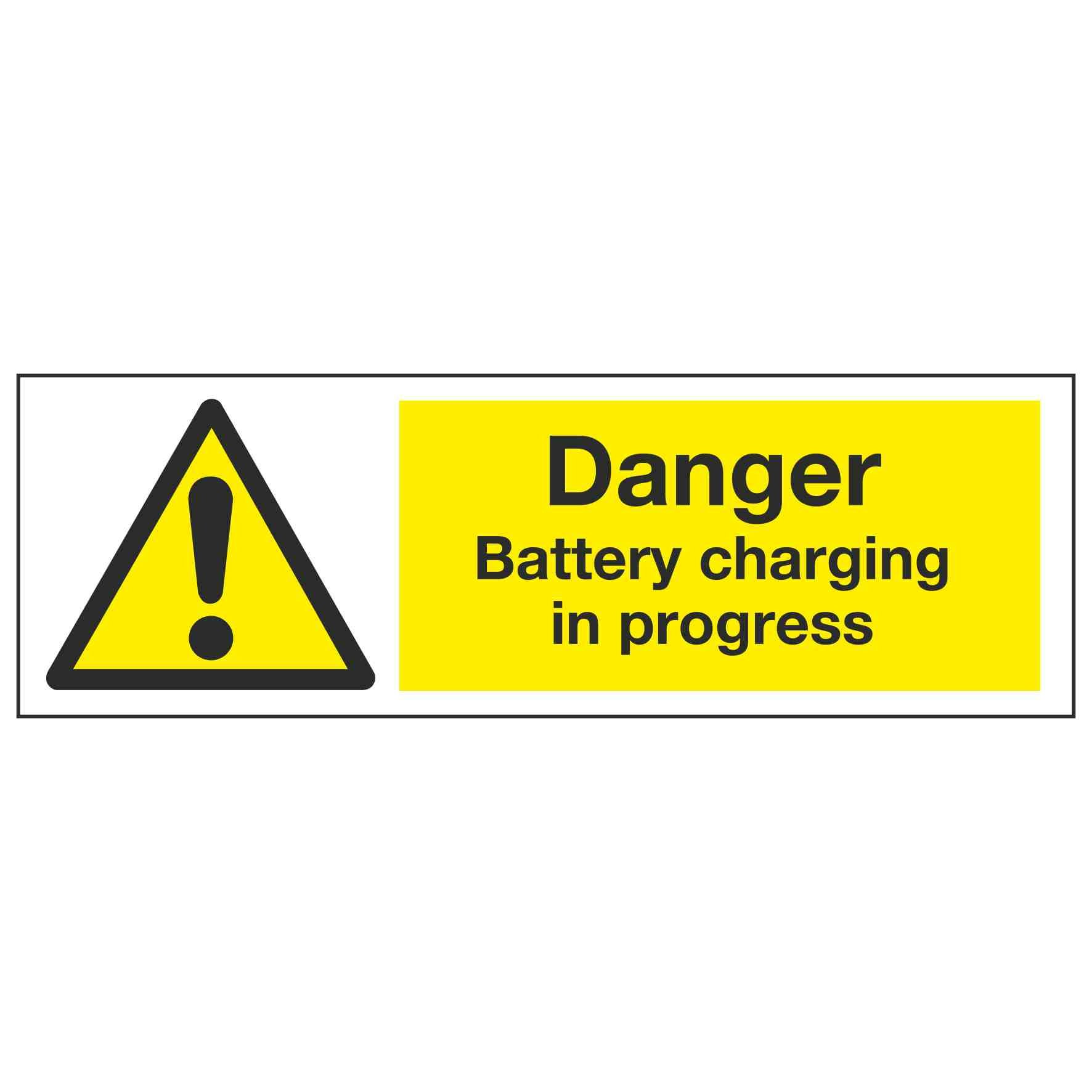 f181e00efd699a Danger Battery charging in progress – Linden Signs & Print