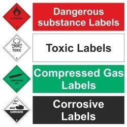 Dangerous Substance Labels Range