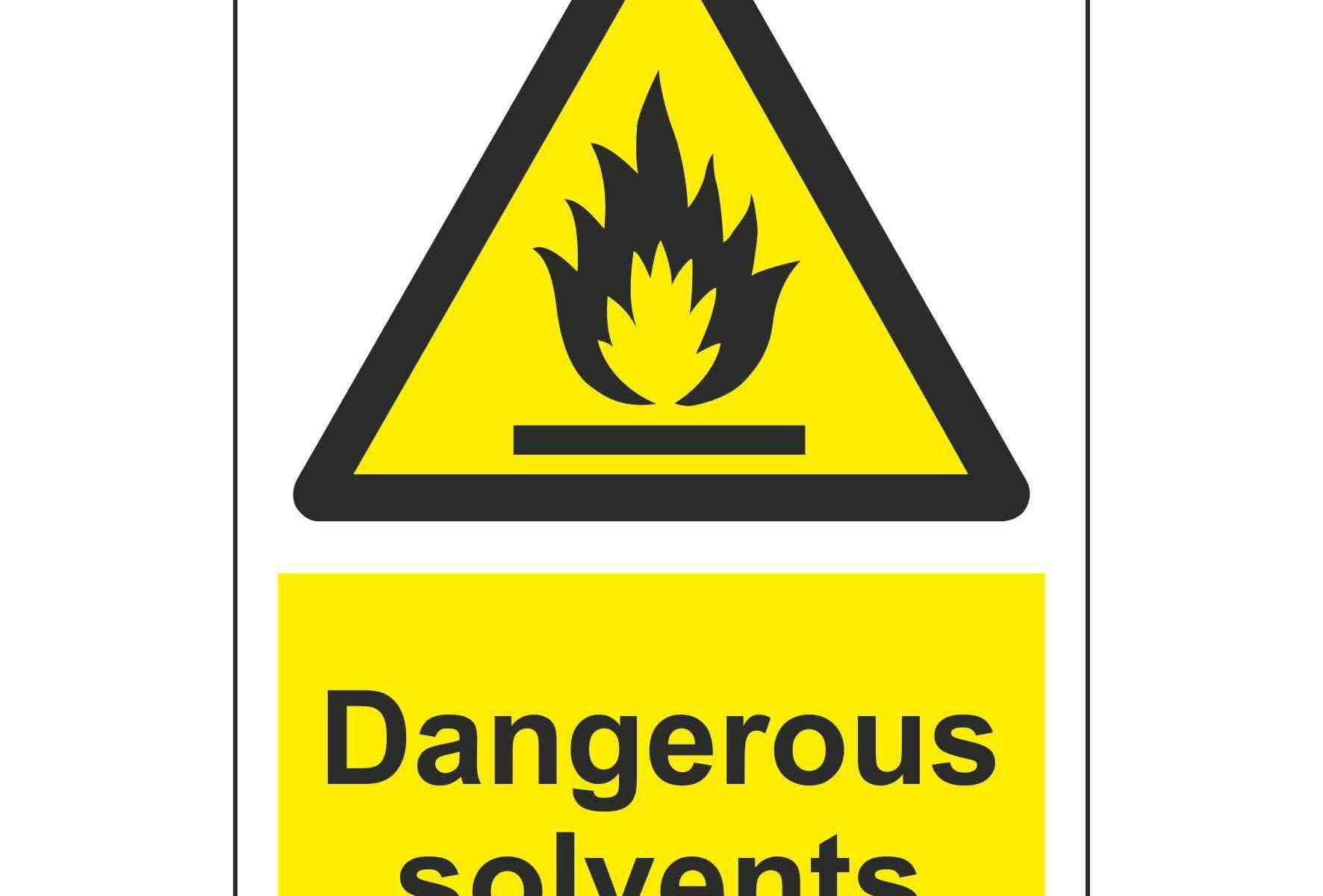 Dangerous solvents