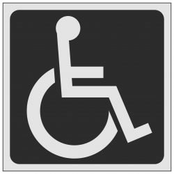 Disabled Symbol Toilet