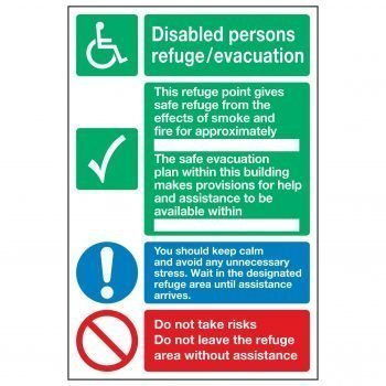 Disabled persons refuge / evacuation