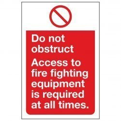Do not obstruct. Access to fire fighting equipment is required at all times.