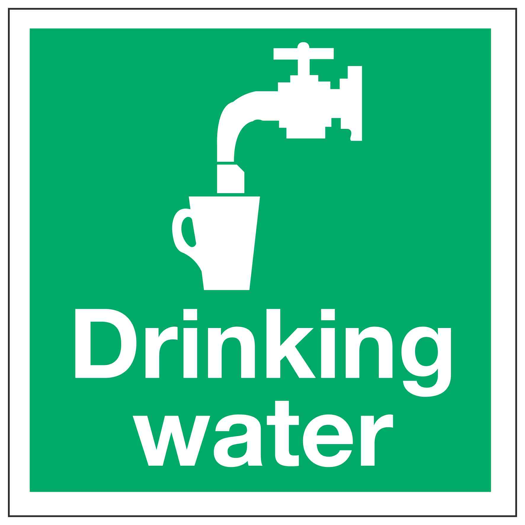 Drinking water – Linden Signs & Print