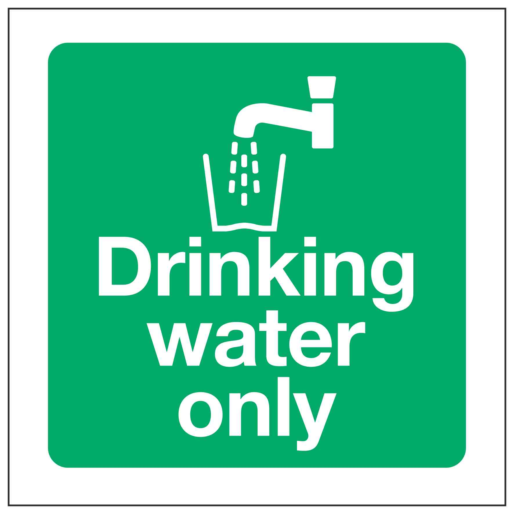 Drinking water only – Linden Signs & Print
