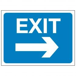 EXIT (Arrow pointing left)