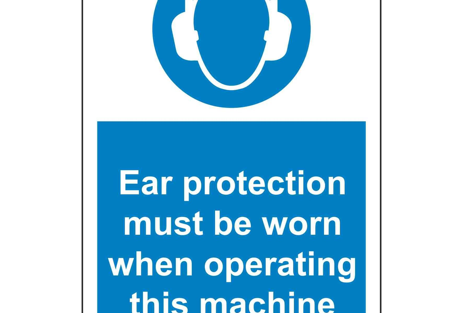 Ear protection must be worn when operating this machine