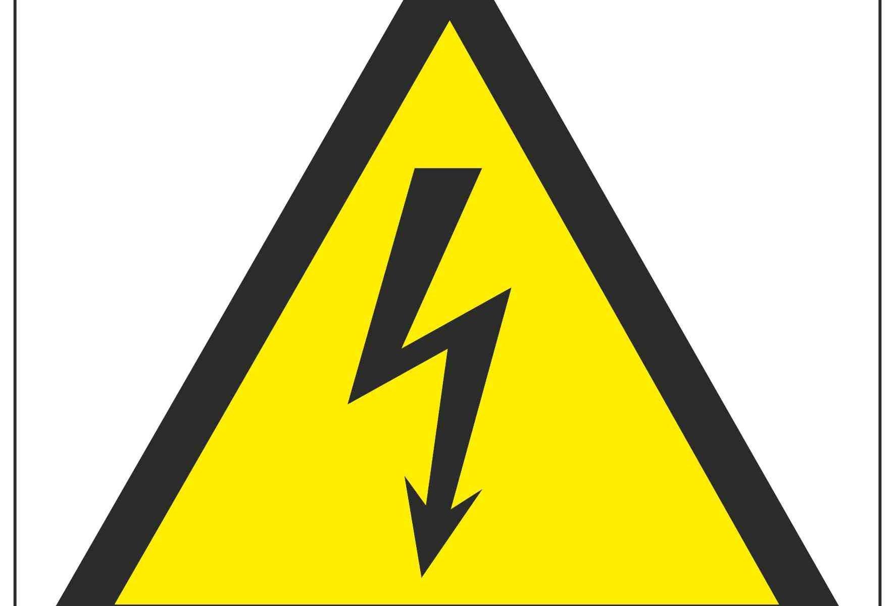 Electrical Hazard Symbol Linden Signs Amp Print
