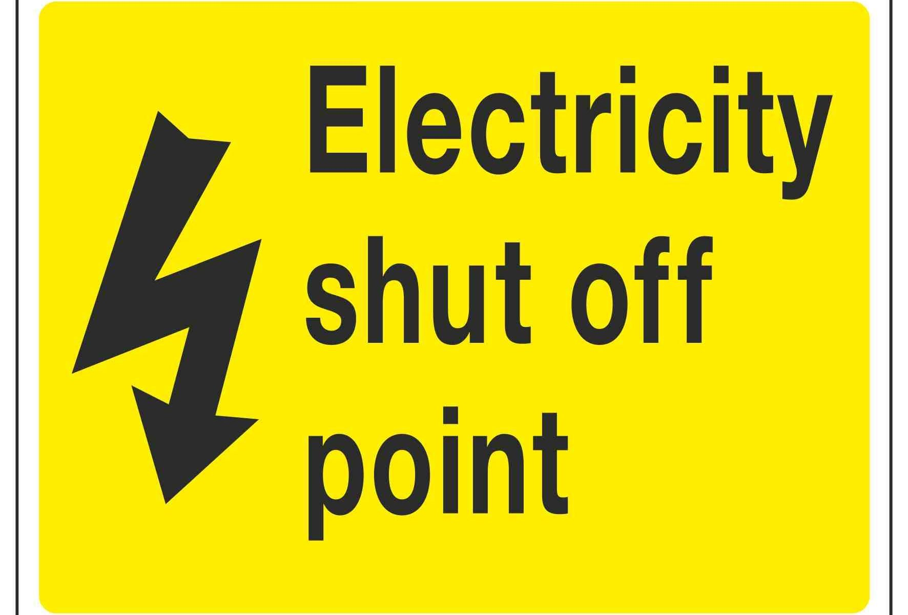 Electricity shut off point
