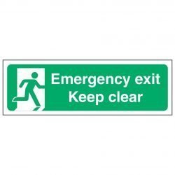 Emergency exit Keep clear