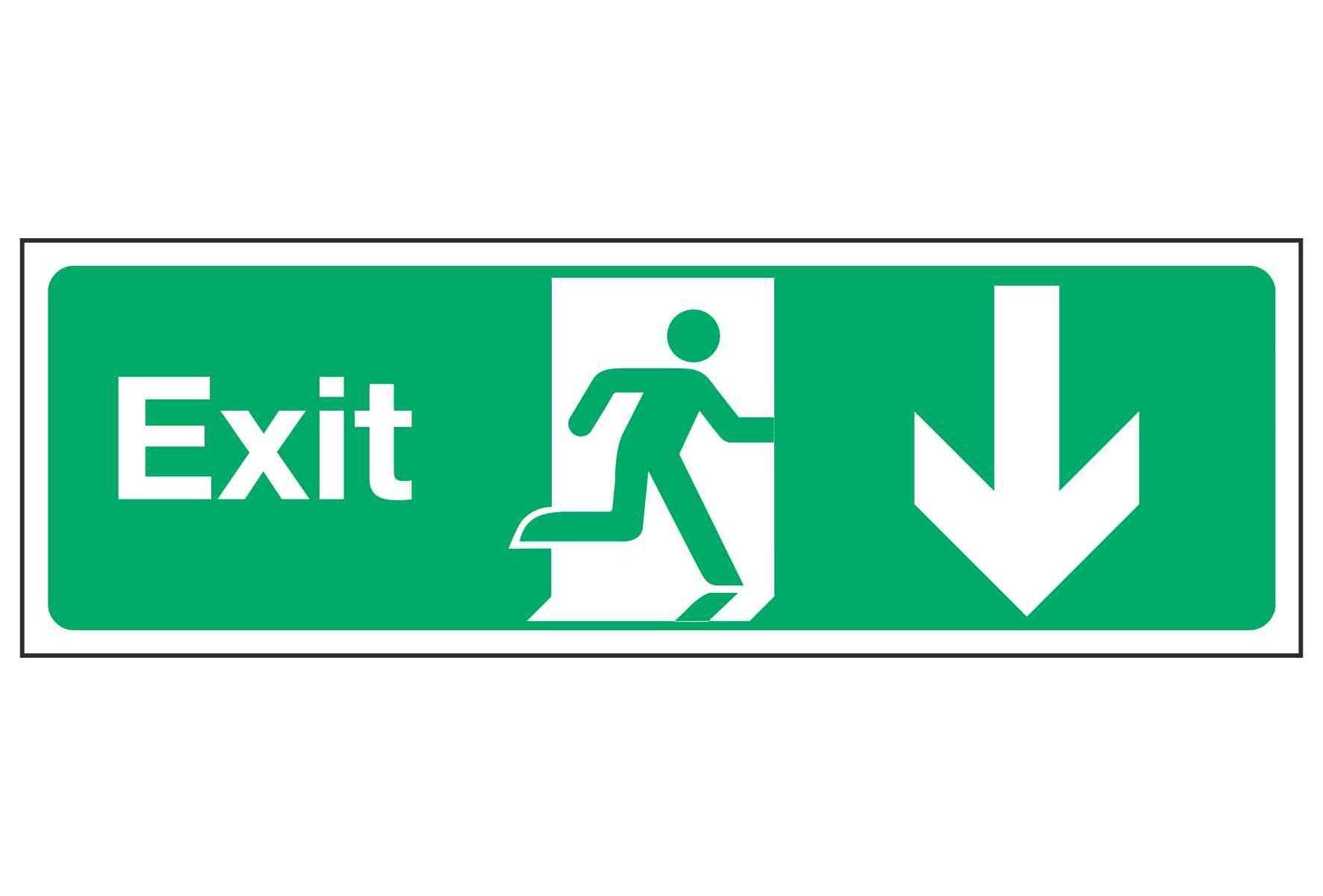 Exit / Arrow Down