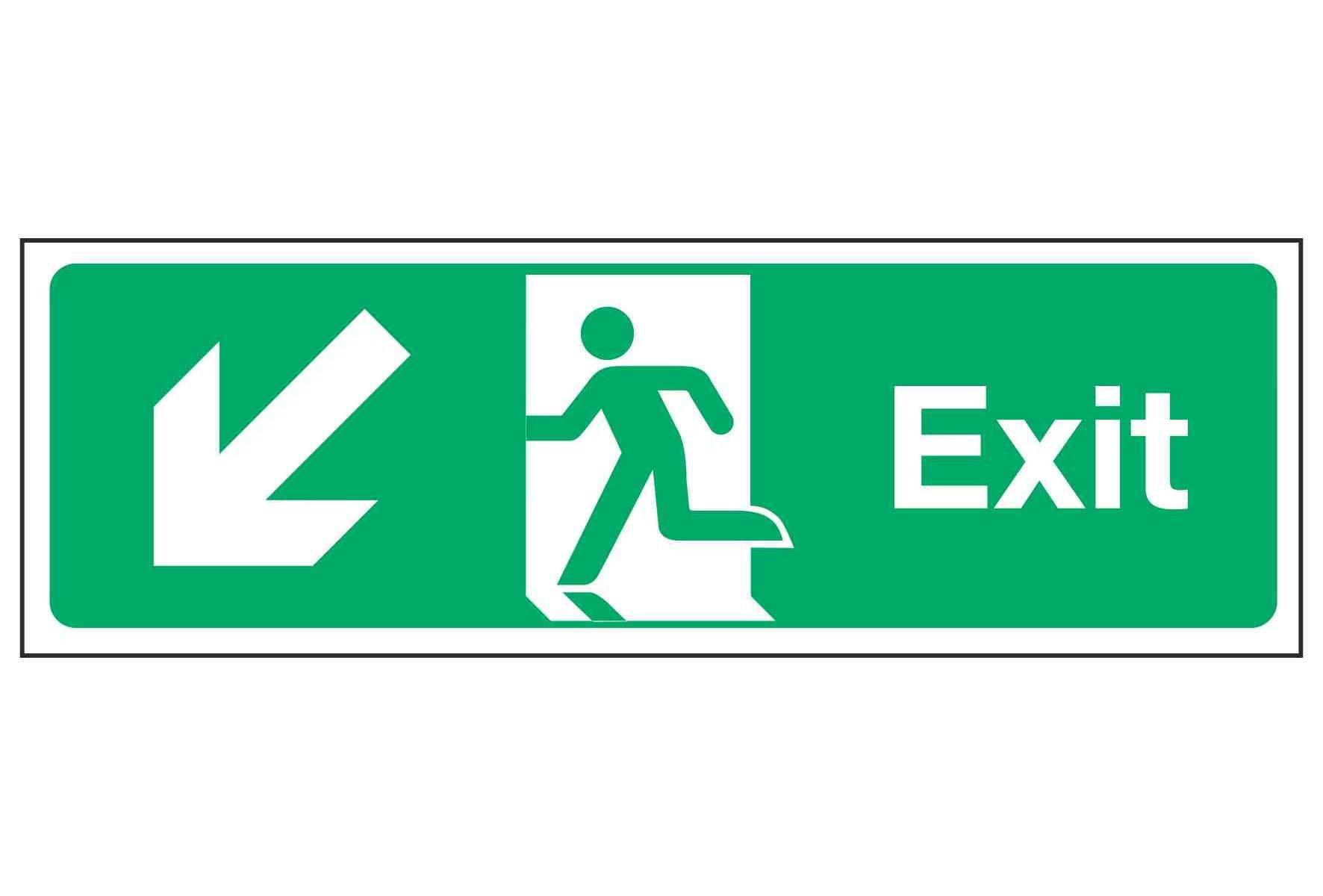Exit / Arrow Down Left