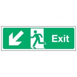Exit / Arrow Down Left