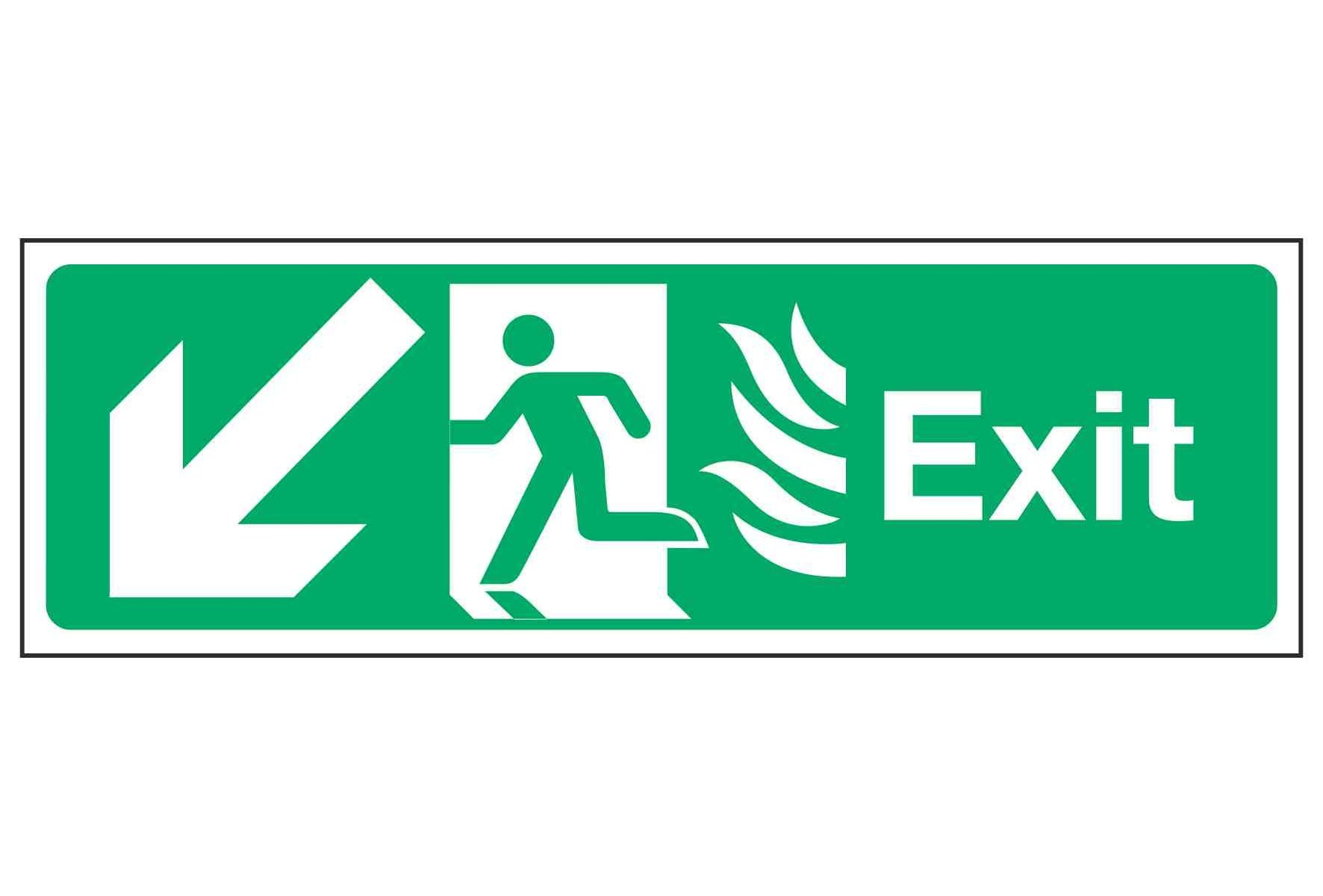 Exit / Arrow Down Left - NHS