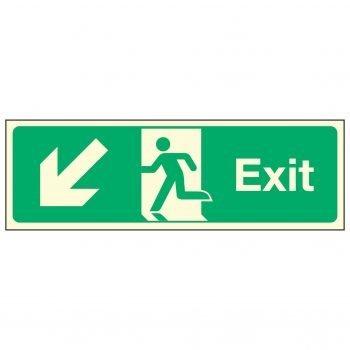 Exit / Arrow Down Left PL