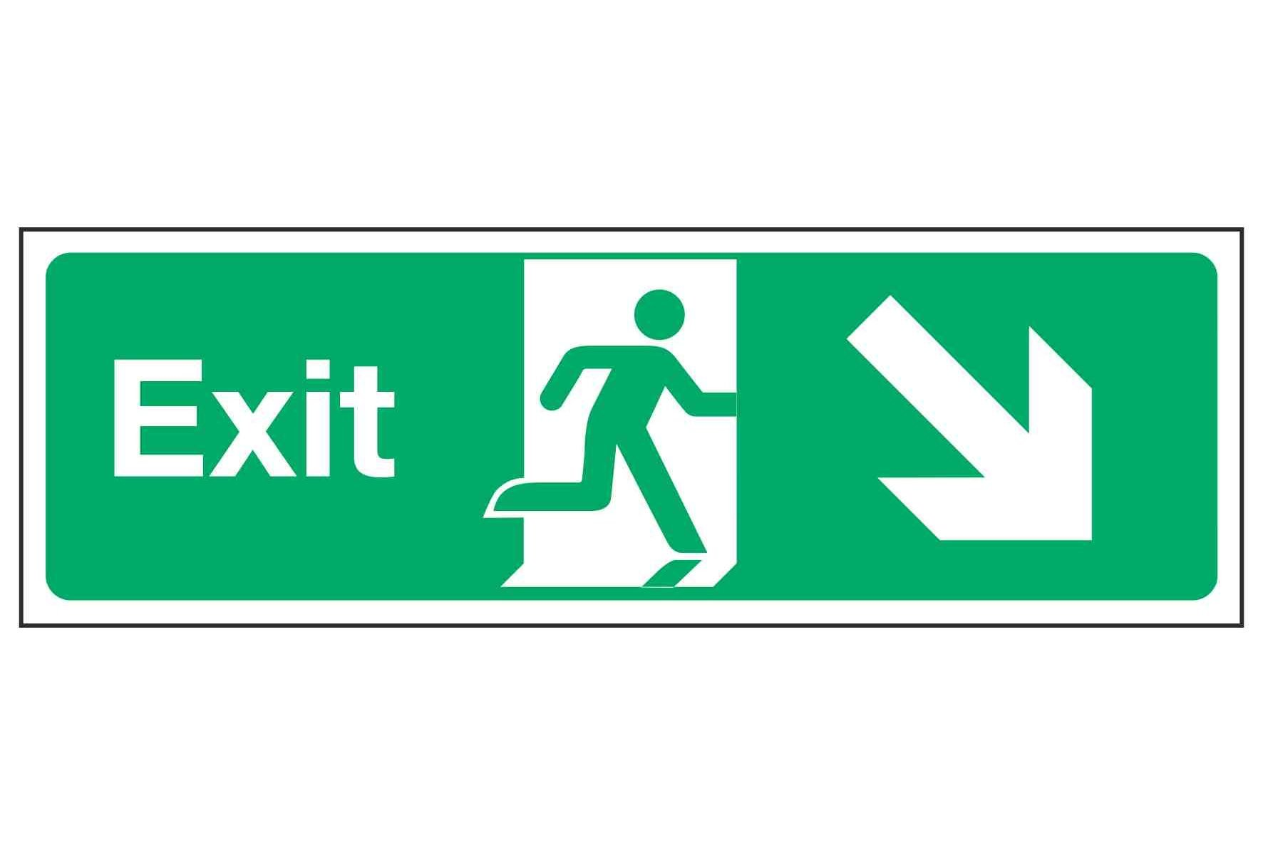 Exit / Arrow Down Right